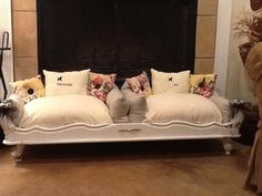 I so want this for the new twins! Dog beds by 10 Downing St on Etsy $400.00