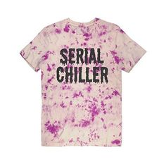 Psychic Trash Serial Chiller Unisex Tie Dye Tee ($30) ❤ liked on Polyvore featuring tops, t-shirts, shirts, pink shirt, pink tee, tie die shirts, tie dye t shirts and tie dyed t shirts