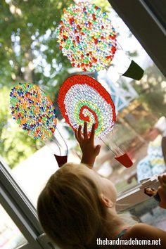 Hot Air Balloon Light Catchers from the Handmade Home