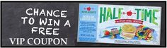 Applegate Farms is sponsoring this coupon giveaway on Facebook where you could win a VIP coupon valid for a FREE Applegate Farms Half-Time product. Half-Time products are quick meals for kids with organic ingredients and …