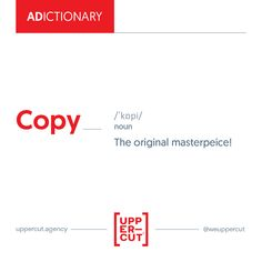 An agency is the only place where copy is spun and not just a version Branding Agency, Digital Marketing, Advertising, Life