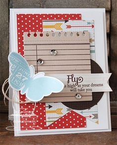Blissful Butterflies; Journal It - For the Record; Blissful Butterflies Die-namics; Fishtail Flags STAX Die-namics; Insert It - 3x4 Notepad Die-namics; Circle STAX Set 1 Die-namics - Inge Groot