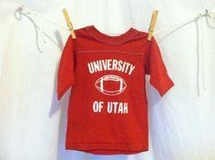 Vintage 70s KIDS UTAH University Tshirt/  Unworn by sweetVTGtshirt, $20.00