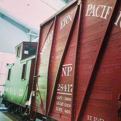June 24, 2016 - A glimpse inside the Train Shed Exhibit Building, Snoqualmie, Washington.