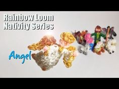 ▶ how to make a Rainbow Loom Angel - YouTube tutorial from PG's Loomacy