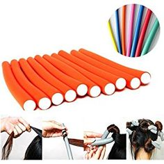 Seema 10 Pieces Magic Hair Foam Rollers Soft Twist Curler Rods For Your Hair