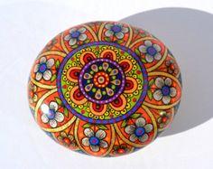 Hand Painted Rock Magic Rock Pebble by PleasureForTheSOUL