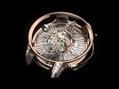 El desplazamiento de la tierra dentro de un reloj Una obra maestra de la relojería moderna