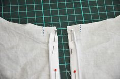 Oliver and S Zipper Tutorial: Replacing buttons with an invisible zipper on the Library dress.