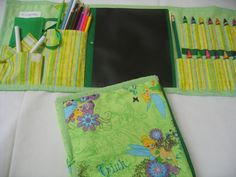 Tinker Bell Art Tote in a pretty green and purple by GrammasShop, $25.00