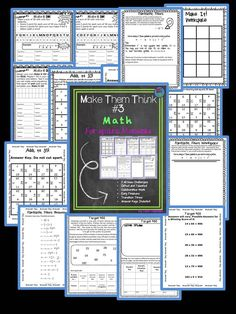 Early finishers, math centers, collaborative work, and tasks for gifted learners: Each activity includes the use of the Common Core Mathematical Practices and the Texas TEKS Process Standards. Students will be thinking, reasoning, and using number sense! There are seven all new challenges. Each challenge is at a different level so that you can differentiate.