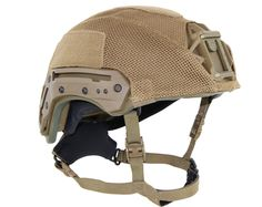 Material: Nylon (mesh multi-cam is polyester). Designed for use with Team Wendy's EXFIL Ballistic helmet, W Shroud, and rails. Easy installation and removal via hook/loop attachment allows rapid change of camouflage helmet pattern, no tools required. Close fitting cover creates a secure fit to the shell that also protects the helmet finish. Loop patches on the cover attach gear or patches to the outside of the helmet.