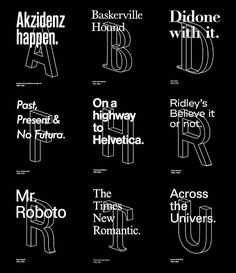 Typographic Posters.    Some of these are badges/levels you earn on quizup