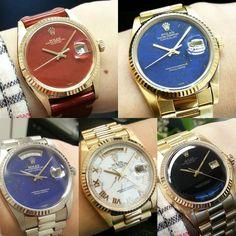 #rolex #daydate Rolex Watches, Wrist Watches, Rolex Day Date, Dream Watches, Vintage Rolex, Rolex Datejust, Gold Watch, Geek Stuff, Accessories