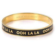 "PRICE FIRM kate spade ""ooh la la"" bangle PRICE FIRM! kate spade ""ooh la la"" strike your fancy idiom bangle; new, never worn kate spade Jewelry Bracelets"
