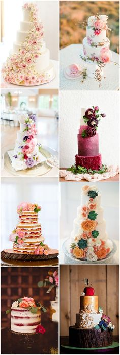 floral wedding cakes with flowers