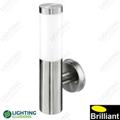 Finial Stainless Steel Exterior Wall Light IP44 - Shop - Lighting Illusions Online