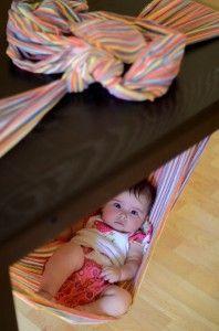 I love making wrap hammocks! This Wrapsody rainbow brightens a rainy day. :)