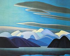 Colorful Bylot Islands by Canadian Lawren Harris Counted Cross Stitch Pattern