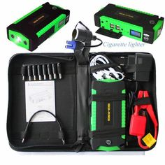 Smart Car Battery Booster Emergency Kit - Jumpstart Your Car! Jump A Car Battery, Portable Battery, Seat Belt Cutter, Led Display Screen, Car Buying Tips, Car Cleaning, Outdoor Power Equipment, All In One, Usb
