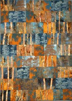 Ponderosa Pine quilt full and detail views