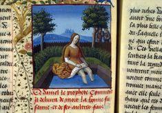 Susana y los Viejos. Fleur des Histoires. Jean Mansel. Siglo XV. Francia. París, Bibliothéque nationale de France