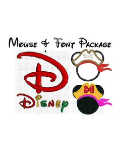 5 Min. INSTANT Download - Disney inspired Alphabet And Pirate Mouse Ears SET Machine embroidery font satin fill 208 designs. $6.50, via Etsy.