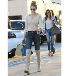 When she's not strutting her stuff for Chanel, Tommy Hilfiger or Balmain, Gigi Hadid is busy mastering an effortless casual and sporty look, counting a simple white tee, slim jeans, sneakers, thigh boots, varsity jackets and rock chick biker bombers among her favorite pieces. Take a closer look at all her best off-duty looks.