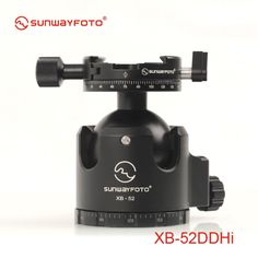 349.00$  Buy here - http://ali1lx.worldwells.pw/go.php?t=32371107100 - SUNWAYFOTO XB-52DDHI Low-Profile Tripod Head for DSLR Camera Tripode Ballhead  Professional  Monopod Panoramic Tripod Ball Head
