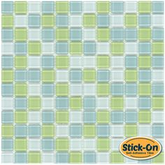 "Peel & Stick Glass Tile Lime Blend is a ""Do it Yourself"" product that combines glass tiles and the latest peel & stick technology suitable for kitchen backsplash. One of the greatest advantages of this self-adhesive tile, it is the ability to lay it on the wall without using any kind of cement or setting material, which is a huge time saver."