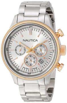 Nautica Men'S N22632G Analog Display Quartz Silver Watch