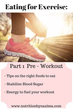 Healthy Tips to fueling you Pre-workout on www.nutritionbynazima.com