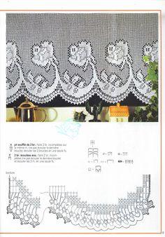 Häkeln & Filethäkeln Rosen Gardine - crochet curtain