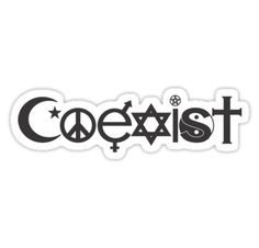 Spread love with Coexist stickers and clothing, • Also buy this artwork on stickers, apparel, stationery, and more.