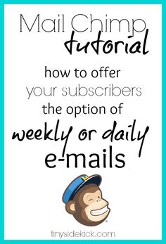 How to Offer a Daily or Weekly Subscription Option in MailChimp