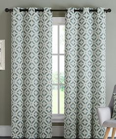 Another great find on #zulily! Blue Dalton Ikat Curtain Panel - Set of Two #zulilyfinds