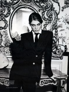 Elisa Sednaoui for Vogue Russia December 2010 by Ellen von Unwerth Why every girl needs a suit