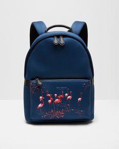 Flamingo print backpack - Navy   Bags   Ted Baker