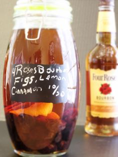 DIY Flavored Bourbon Infuse your booze-Figgy Four Roses Bourbon Recipe ...