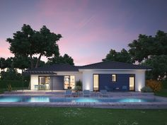 Archi Design, Facade Design, House Design, Style At Home, Small Villa, Garden Pool, Elegant Homes, Home Projects, My House