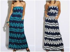 SUMMER CLOSEOUT!!!!! Aztec Maxi Dress in Navy and Teal $14.99 #pinkEpromise