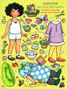 Paper Doll Easter Fun with Josephine by Mary Engelbreit