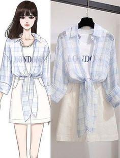 Teen Fashion Outfits, Mode Outfits, Korean Outfits, Cute Fashion, Girl Fashion, Girl Outfits, Fashion Drawing Dresses, Fashion Illustration Dresses, Fashion Dresses