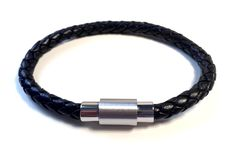 One of our most popular Mens Bracelets. This Black Leather Weave Bracelet finished with a Stainless Steel magnetic and threaded clasp comes in an official Cudworth Gift Pouch. A stylish and durable mens bracelet which can be worn at all occasions. #MensJewellery #MensBracelet #LeatherBracelet #MinorDetail #MensGift