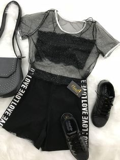Great outfit idea to copy ♥ For more inspiration join our group Amazing Things ♥ You might also like these related products: - Sweaters ->. Girls Fashion Clothes, Teen Fashion Outfits, Edgy Outfits, Swag Outfits, Korean Outfits, Mode Outfits, Cute Casual Outfits, Outfits For Teens, Pretty Outfits