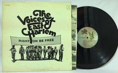 "The Voices Of East #Harlem - ""Right On Be Free"" Elektra Records LP Soul Album VG+"
