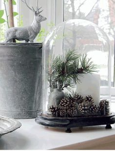 bell jars, bell jar bell jars bell jars, cloche jar ideas, decorating with glass cloches, bell jars Christmas Lanterns, Christmas Jars, Christmas Bells, Christmas 2019, Christmas Home, White Christmas, Vintage Christmas, Amazon Christmas, Christmas Trees