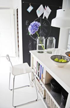 blackboard wall and wire clips