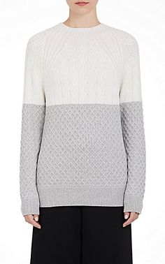 We Adore: The Wool Mixed-Stitch Sweater from Proenza Schouler at Barneys Warehouse