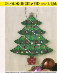 Sparkling Christmas Tree Plastic Canvas by needlecraftsupershop, $4.99